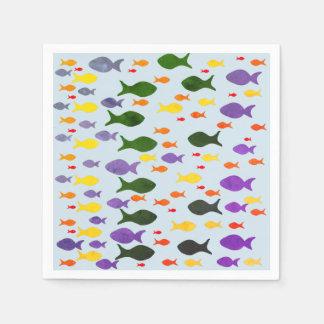 Fun Colorful Sea Fish  Napkins Disposable Napkin
