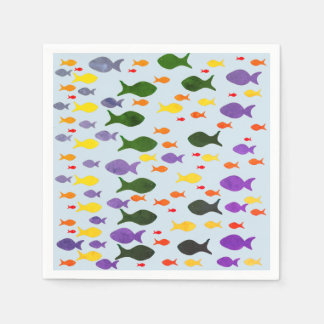Fun Colorful Sea Fish  Napkins Paper Napkin