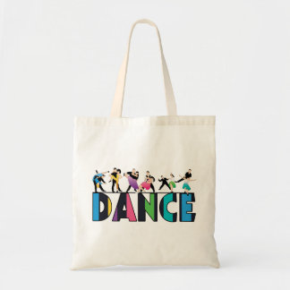 Fun & Colorful Striped Dancers Dance Budget Tote Bag