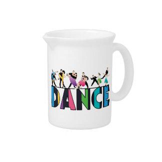 Fun & Colorful Striped Dancers Dance Pitcher