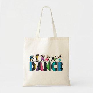 Fun & Colorful Striped Dancers Dance Budget Tote Bag