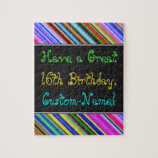 Fun, Colorful, Whimsical 16th Birthday Puzzle