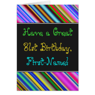 Fun, Colorful, Whimsical 81st Birthday Card