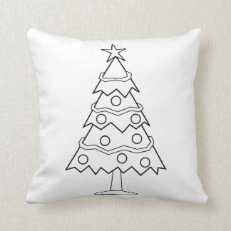 Fun Colour at Home Christmas Tree Craft Cushion