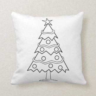 Fun Colour at Home Christmas Tree Craft Throw Pillow