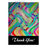 Fun Colourful Abstract Art Design Note Card