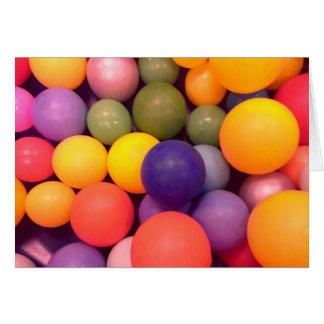 Fun Colourful Balls Pattern Card
