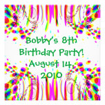 Fun Colourful Birthday Party! Invitation