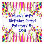 Fun Colourful Birthday Party Invitation