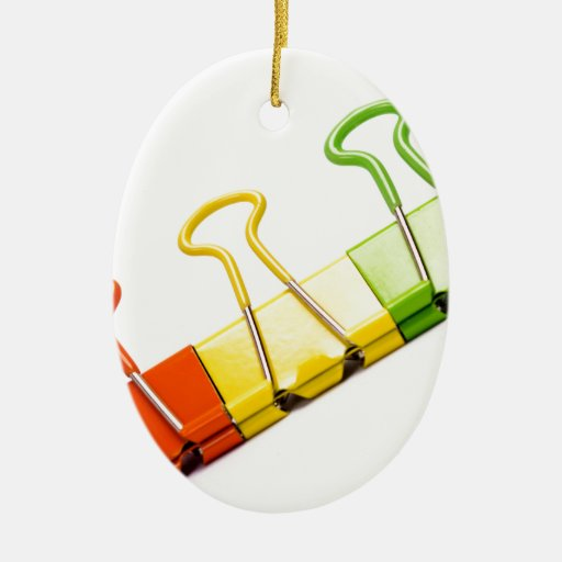 fun colourful clips christmas ornament