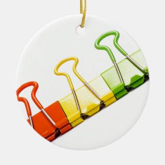 fun colourful clips round ceramic decoration