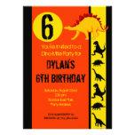 Fun Colourful Dinosaur Birthday Party Invitations