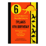 Fun Colourful Dinosaur Birthday Party Invitations