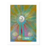Fun colourful inspirational abstract art customise post cards