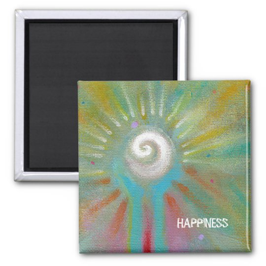 Fun colourful inspirational abstract art magnet