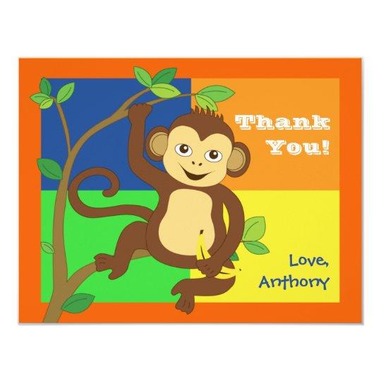 Fun Colourful Little Monkey Note Card