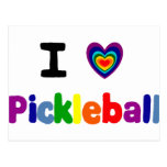 Fun Colourful Pickleball Letters Art Postcard