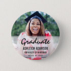 Fun Colourful Silhouettes | Graduation Party 6 Cm Round Badge