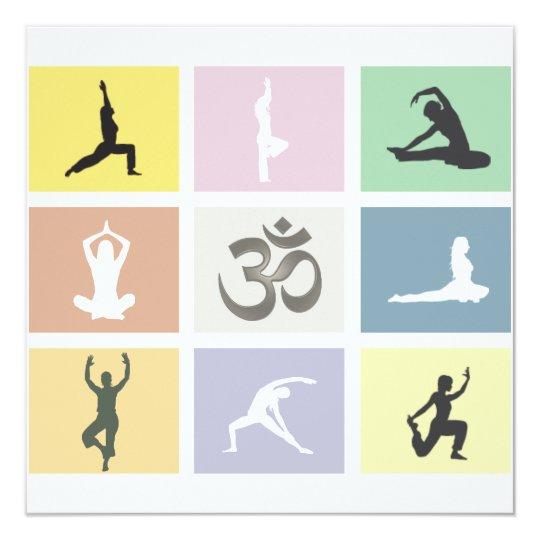 Fun Colourful Yoga Invitation