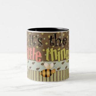 Fun Comic Bumble Bee Little Things Coffee Cup Two-Tone Mug