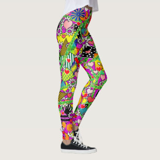 Fun Comic Colorful Leggings