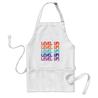 Fun Computer Game Message Level Up! Apron