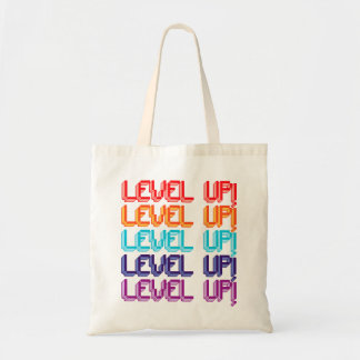 Fun Computer Game Message Level Up! Bag
