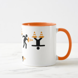 Fun Construction Worker Road Traffic Cone Mug