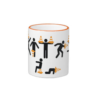 Fun Construction Worker Road Traffic Cone Ringer Mug