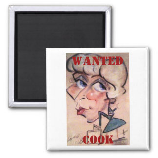 Fun, Cook, WANTED Refrigerator Magnet