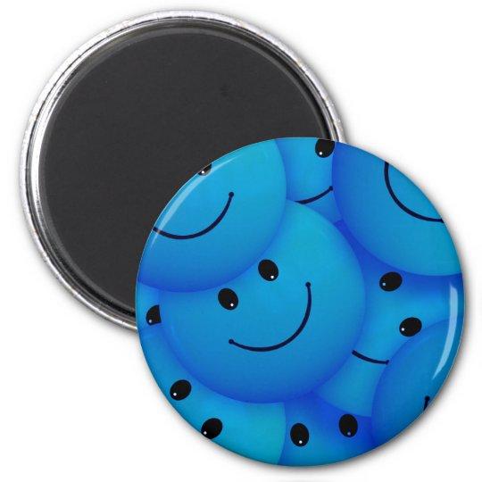 Fun Cool Happy Blue Smiley Faces 6 Cm