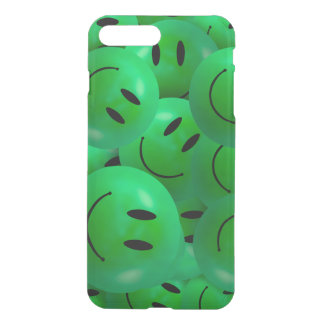 Fun Cool Happy green Smiley Faces iPhone 7 Plus Case