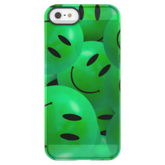 Fun Cool Happy green Smiley Faces Uncommon Permafrost® Deflector iPhone 5 Case