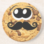 Fun Cool Quirky Trendy Cute Cookie Mustache Beverage Coasters