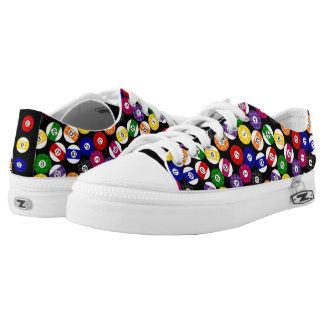 Fun Country Style Checkered Billiards Pattern Low Tops