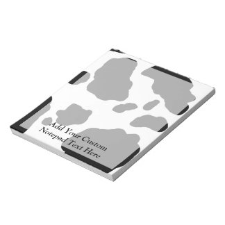 Fun Cow Print Personalized Notepad