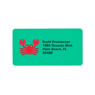 Fun Crab Address Label