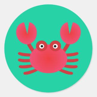 Fun Crab Classic Round Sticker