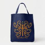Fun Cross Design Grocery Tote Bag