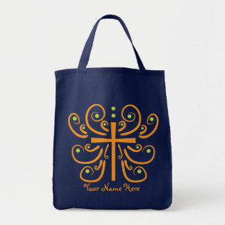 Fun Cross Design Grocery Tote Bag