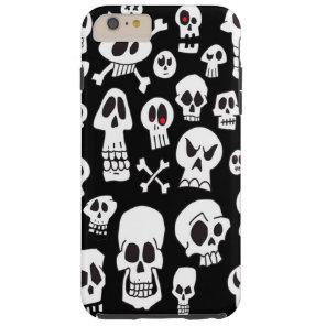 Fun Cute Hand Drawn Skulls Tough iPhone 6 Plus Case