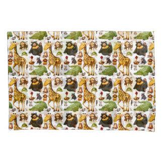 Fun Cute Jungle Animals Pillowcase