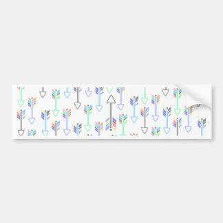 Fun Cute Little Arrows Pattern Bumper Sticker