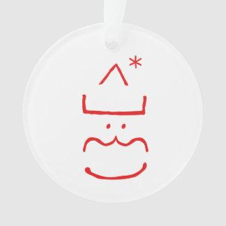 Fun Cute Merry Jolly Santa Christmas Tree Ornament