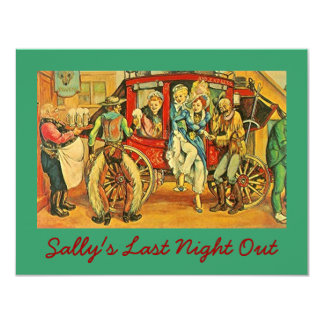 FUN CUTE OLD WEST BACHELORETTE PARTY INVITATIONS