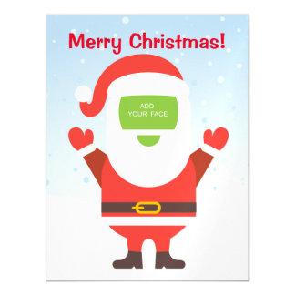 Fun cute Santa Claus custom Christmas greeting… Magnetic Invitations