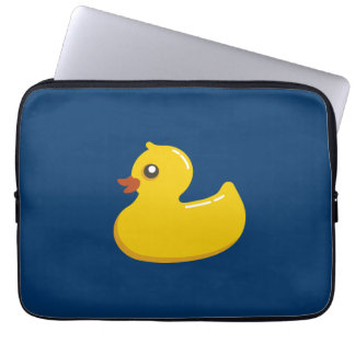 Fun Cute Yellow Rubber Ducky Laptop Sleeve