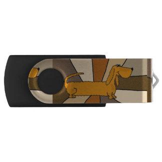 Fun Dachshund Dog Abstract USB Drive