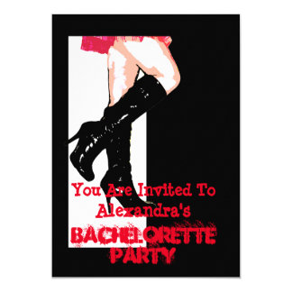 Fun dancing girl personalized bachelorette party 13 cm x 18 cm invitation card