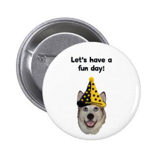 Fun Day Clown Dog 6 Cm Round Badge